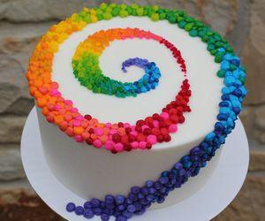 cake, food, and rainbow image
