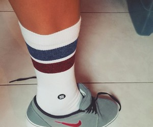 girlfriend, nike, and socks image