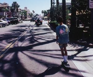 boy, skate, and summer image