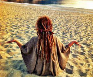 beach, dreads, and hippie image