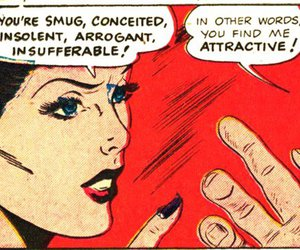 comic, attractive, and woman image
