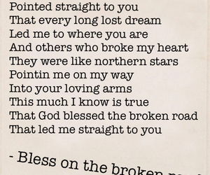 bless on the broken road image