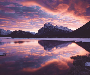 clouds, nature, and mountains image