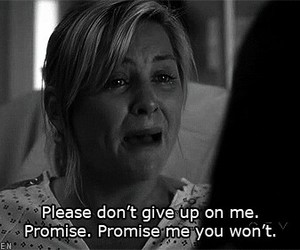quote, grey's anatomy, and black and white image
