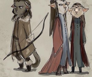 lord of the rings, bard, and the hobbit image