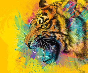 animal, tiger, and art image