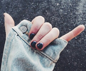 grunge, jeans, and nails image