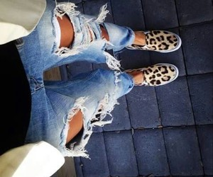 jeans, leopard, and muster image