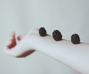 blackberry, hand, and vintage image
