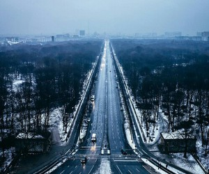 city, cold days, and snow image