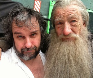 the hobbit, gandalf, and peter jackson image