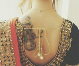 blouse, owl, and tattoo image
