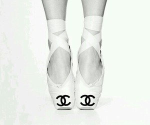 chanel, ballet, and black and white image