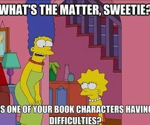 book, simpsons, and lisa simpson image