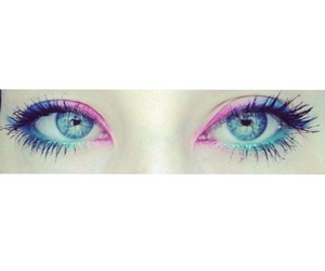 eyes, galaxy, and make-up image