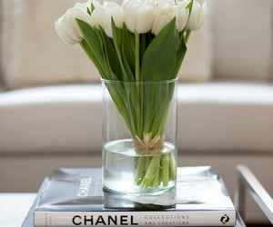 chanel, flowers, and vogue image