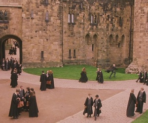 hogwarts, magic, and philosopher's stone image