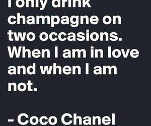 champagne, coco chanel, and quotes image