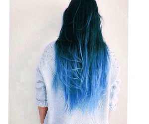 blue, fashion, and ombre hair image