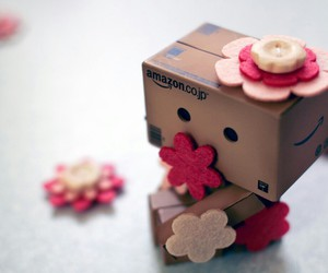 cute, danbo, and flowers image