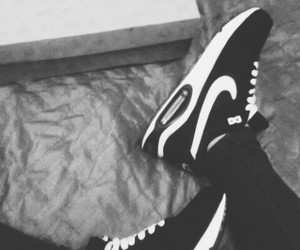air max, black & white, and sport image