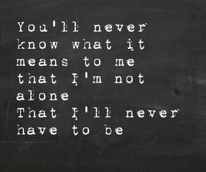 quote, simple plan, and never alone image