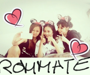 park bom, soo hyun, and sbs roommate image