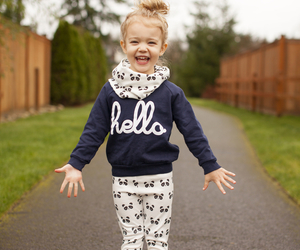 fashion, hello, and little girl image