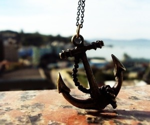 anchor, sea, and necklace image