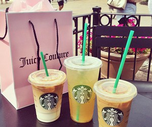 starbucks, shopping, and juicy couture image