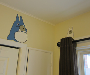 anime, blue, and room image