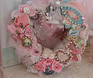 christmas, pink, and shabby chic image