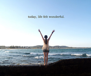 life, wonderful, and text image