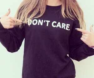 don't care, care, and black image