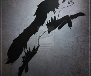 stark, wolf, and game of thrones image