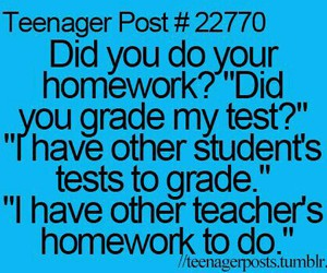 funny, teacher, and homework image