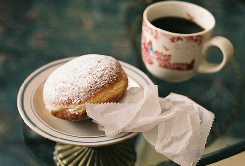 black, mug, and breakfast image