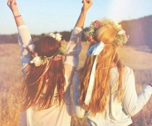 best friends, fun, and hair image