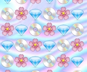 diamond, flowers, and cd image