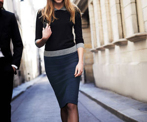 fashion, outfit, and pencil skirt image
