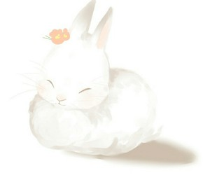 angel, bunny, and fluffy image