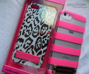 animal print, pink, and phone case image
