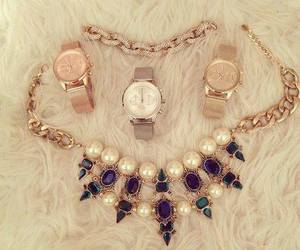 watch, fashion, and necklace image