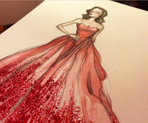 drawing, dress, and art image