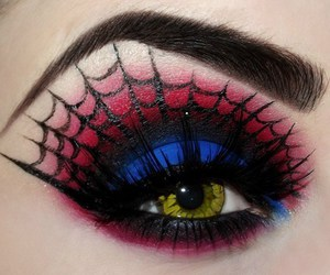 makeup, eye, and spider image