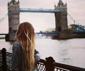 girl, london, and hair image