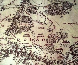 map, lord of the rings, and LOTR image