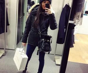 bag, brunette, and cool image
