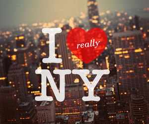 city, empire state building, and heart image
