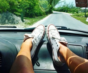 converse, summer, and travel image